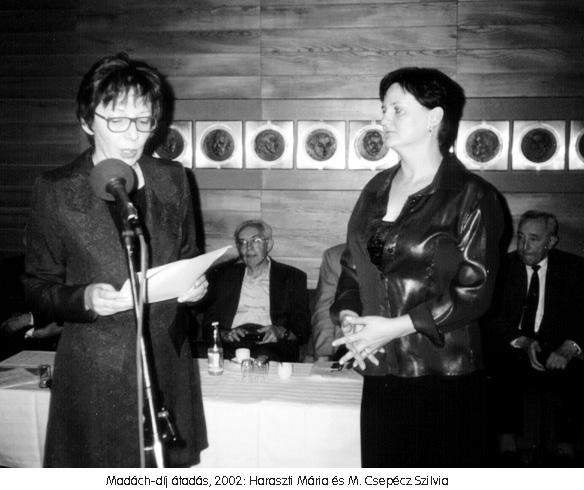 A Madách-díj átadása M. Csepécz Szilviának