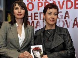 Malina Hedvig és Vrabec Mária a könyvbemutatón (Fotó: Új Szó)