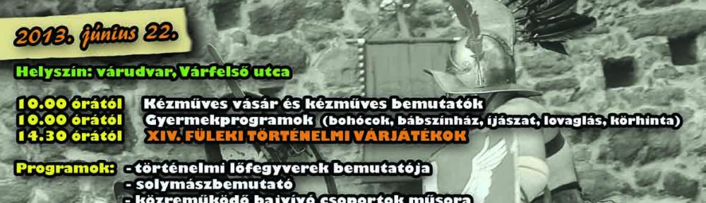 XIV. Füleki Történelmi Várjátékok - plakát