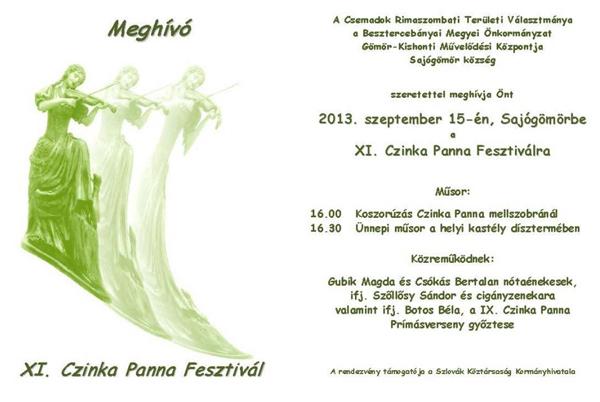 XI. Czinka Panna Fesztivál