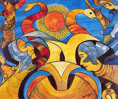 A nap szerelmesei Balázs János cigány festő alkotása